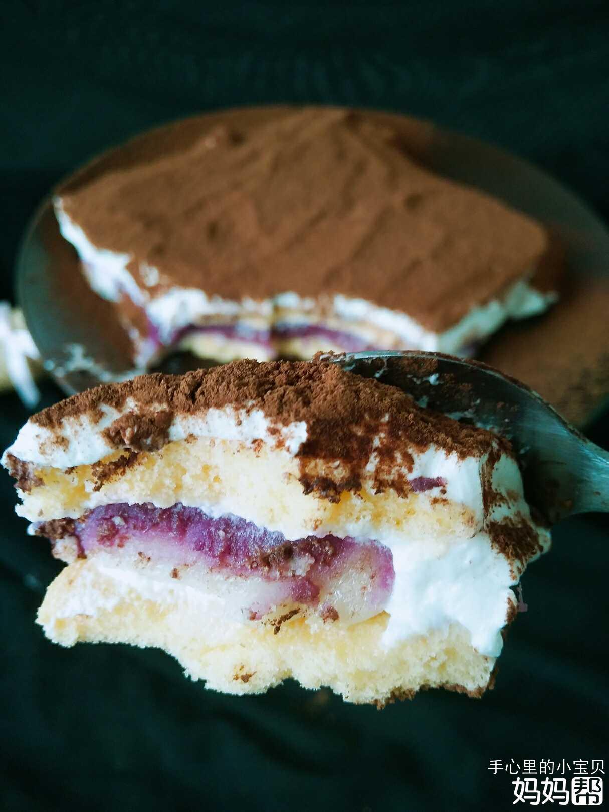 【和美食独处的时光】紫薯宝盒,这样的蛋糕你
