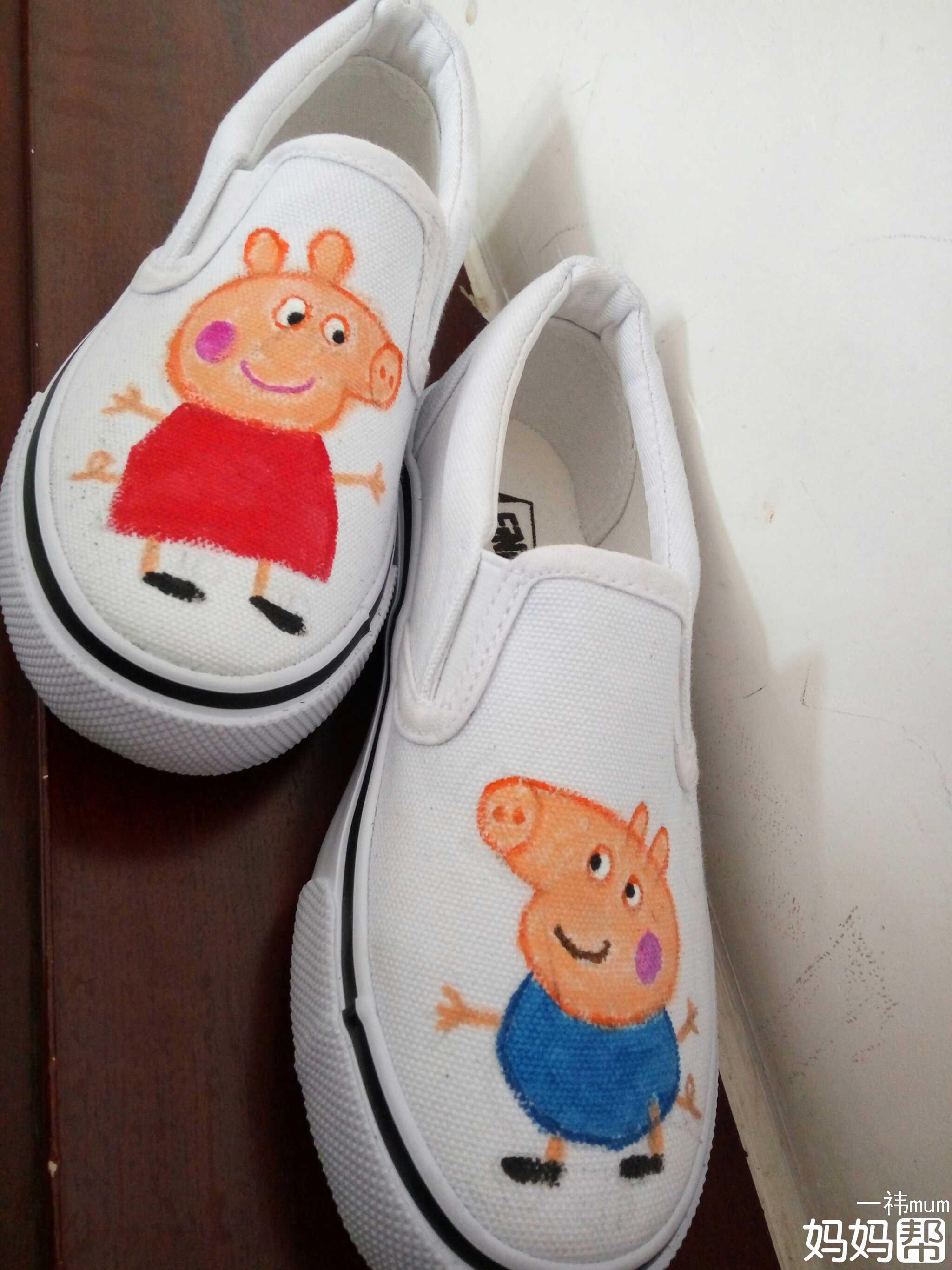 小猪佩奇手绘鞋