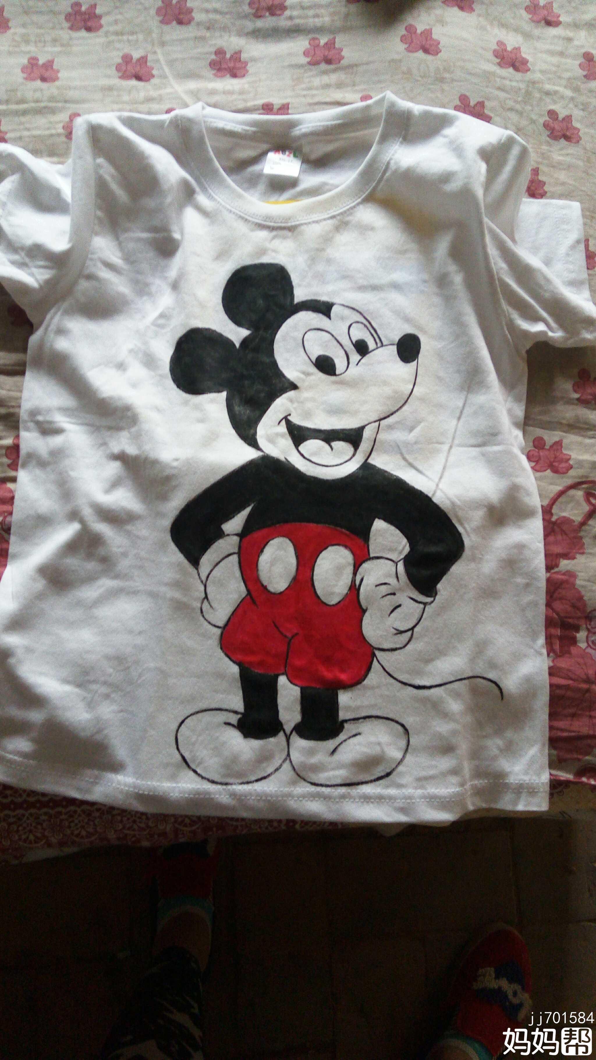手绘t恤衫-米奇来了!