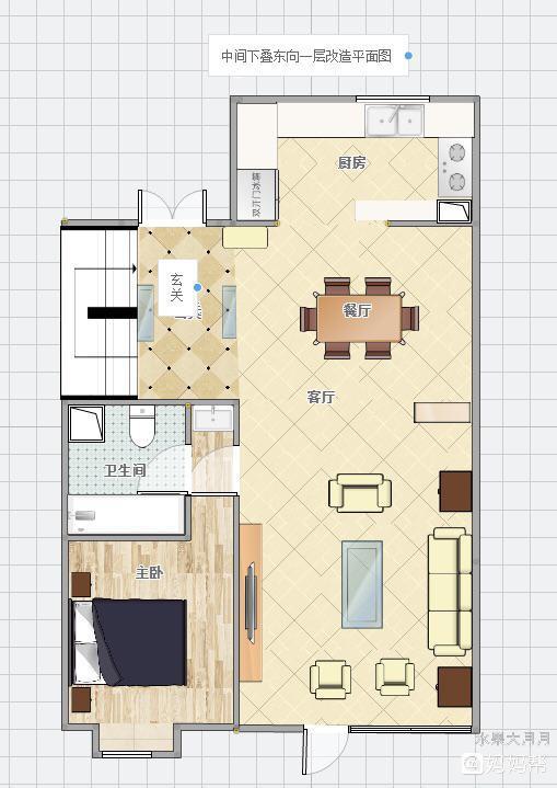 发个房子结构图片和设计图,这样设计合理吗?宝妈们给点意见