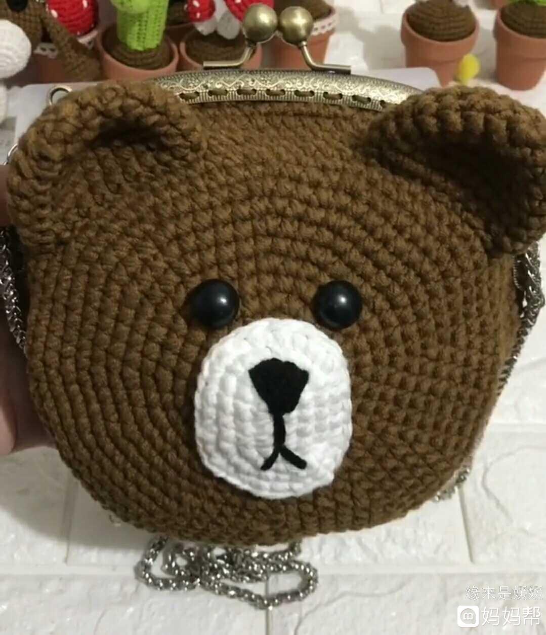 会钩针的宝妈注意啦,哪位宝妈有熊熊包图解,想给闺女钩一个包包