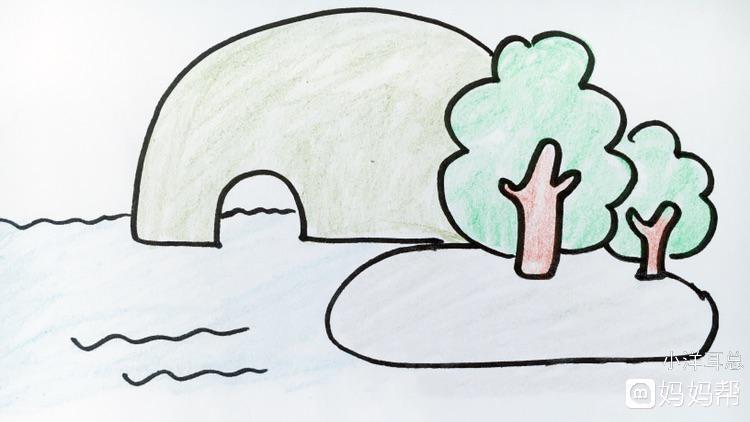 今天我们就来画一画象鼻山,简笔画法,相当简单易画,可以教小朋友画一图片