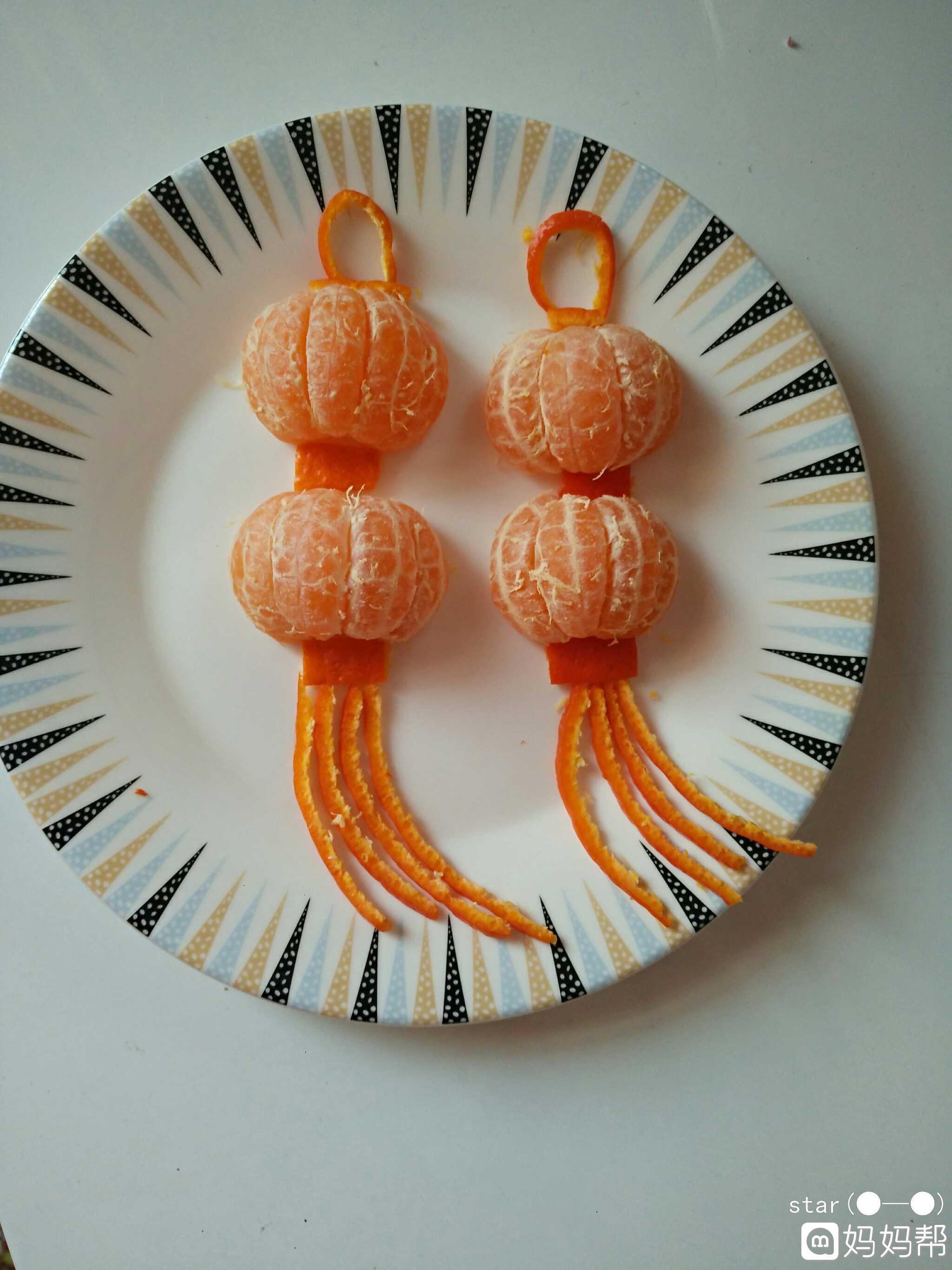 """【我的""""轻奢""""年菜】水果拼盘,橘子灯笼"""