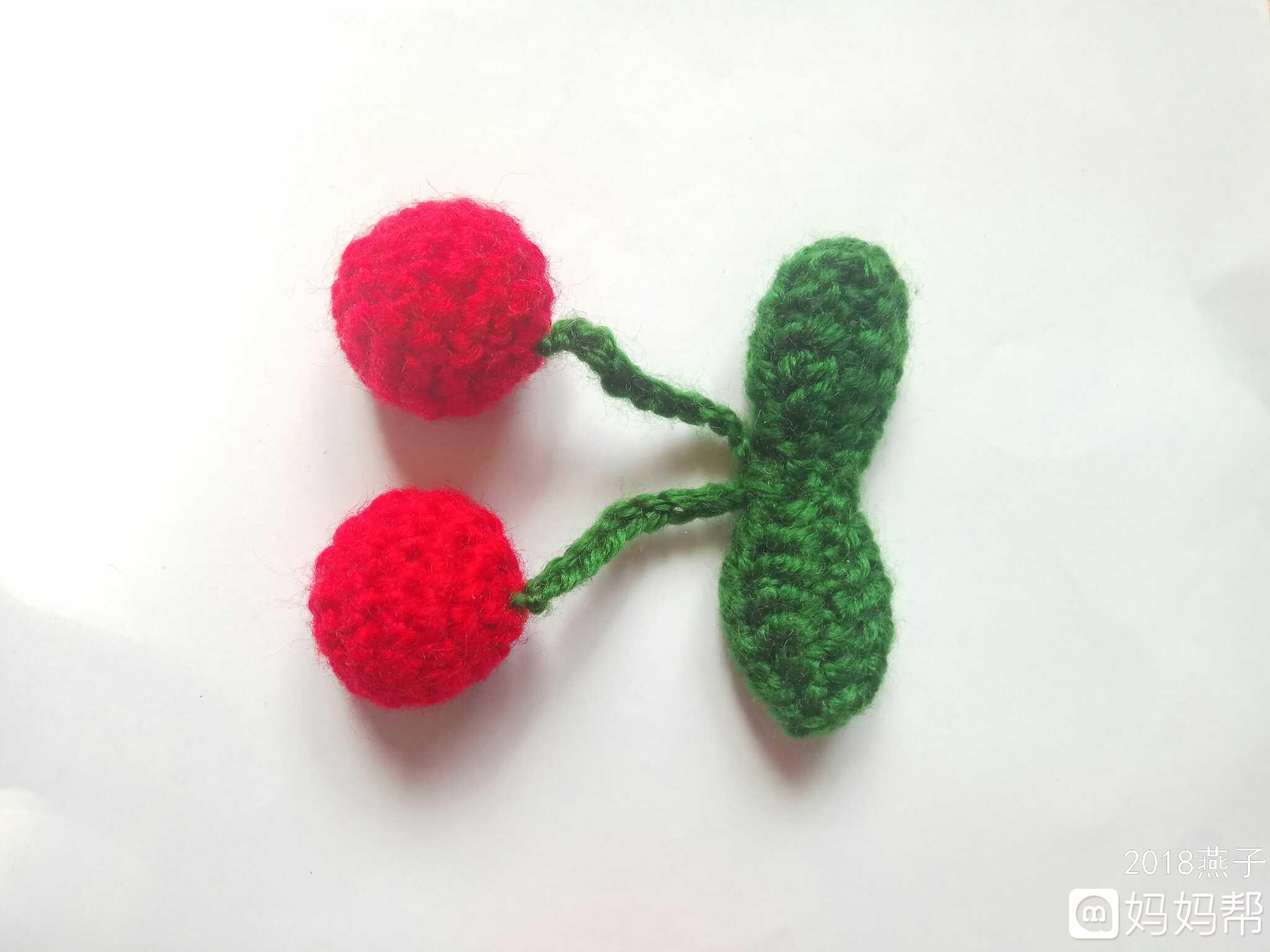 钩针小挂件(草莓和樱桃)