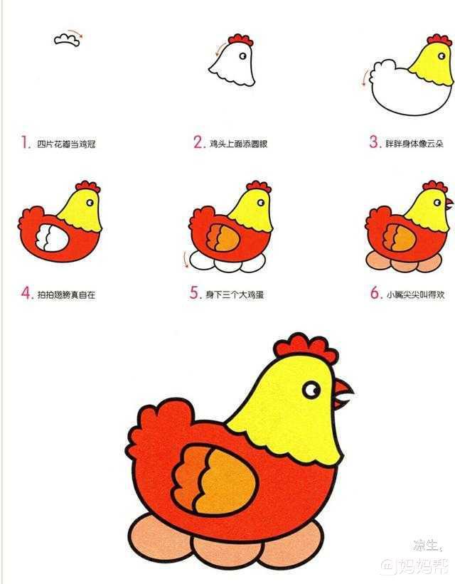 育儿简笔画,10种常见禽鸟类动物,看一遍就能学会!