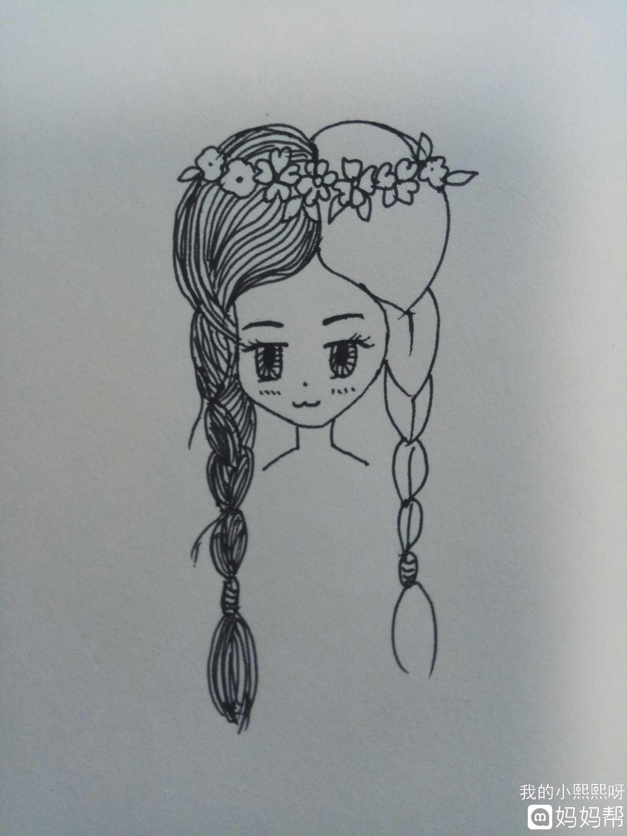 儿童画 简笔画 手绘 线稿 2048_2731 竖版 竖屏