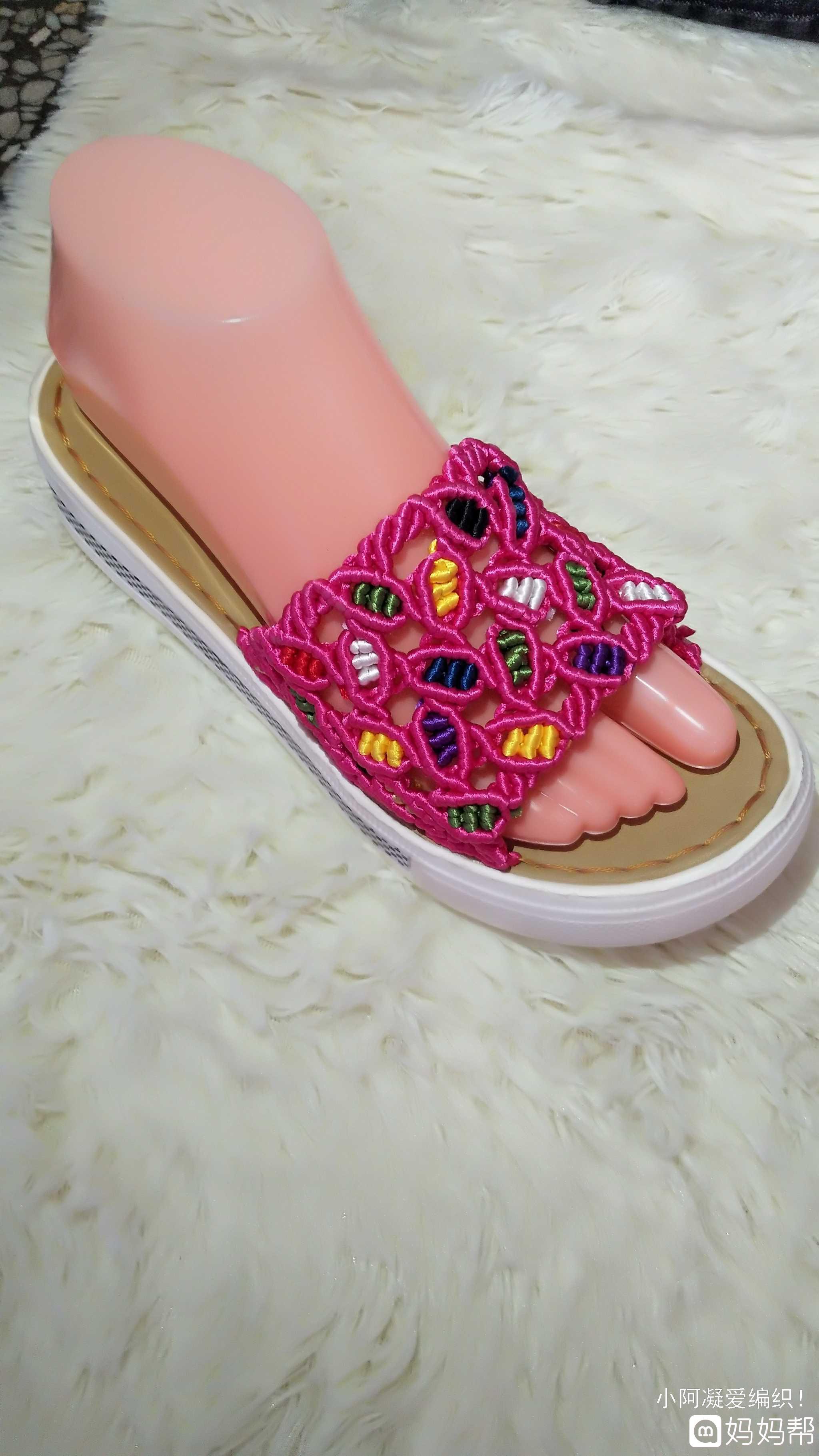 来一波中国结编凉拖鞋!