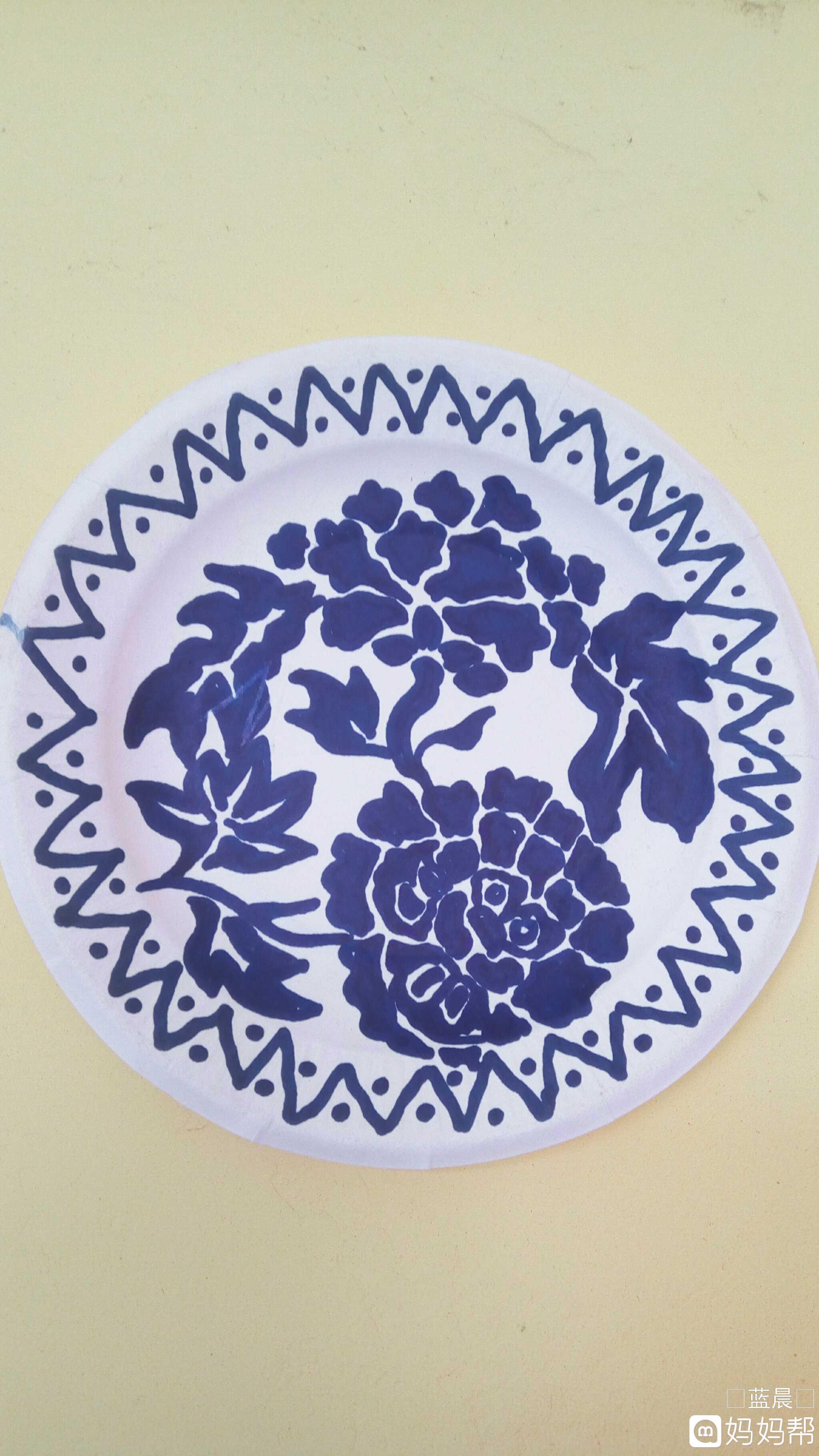 青花瓷纸盘(手绘)