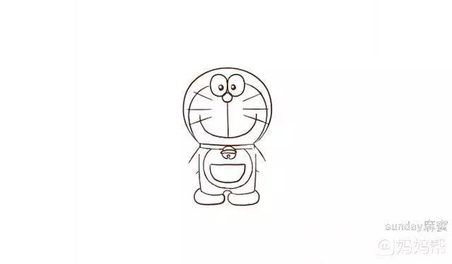 哆啦A梦简笔画 其实我也叫小叮当