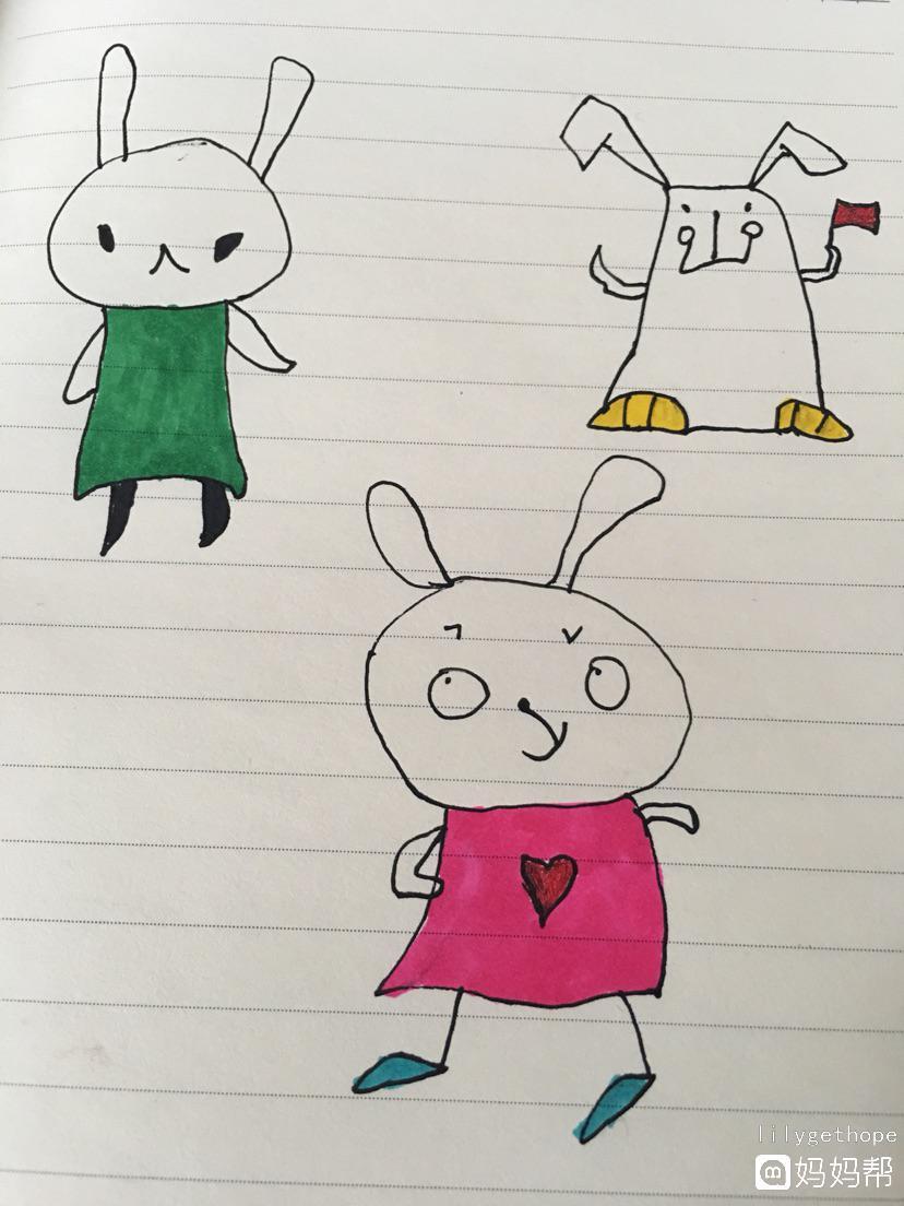 【跟我一起学简笔画】原来兔子可以这么来画