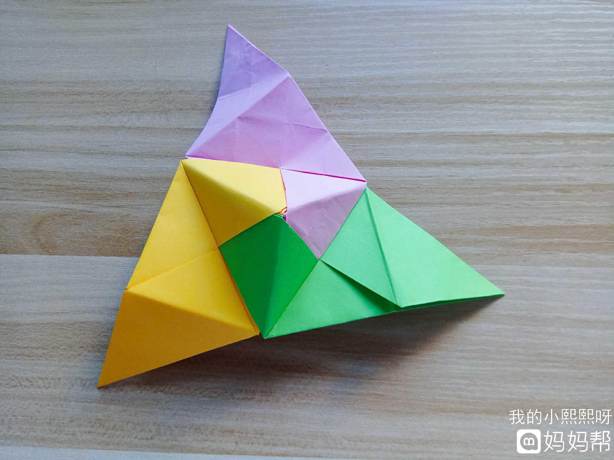 【出粽手工大比拼】简单的折纸三色粽子