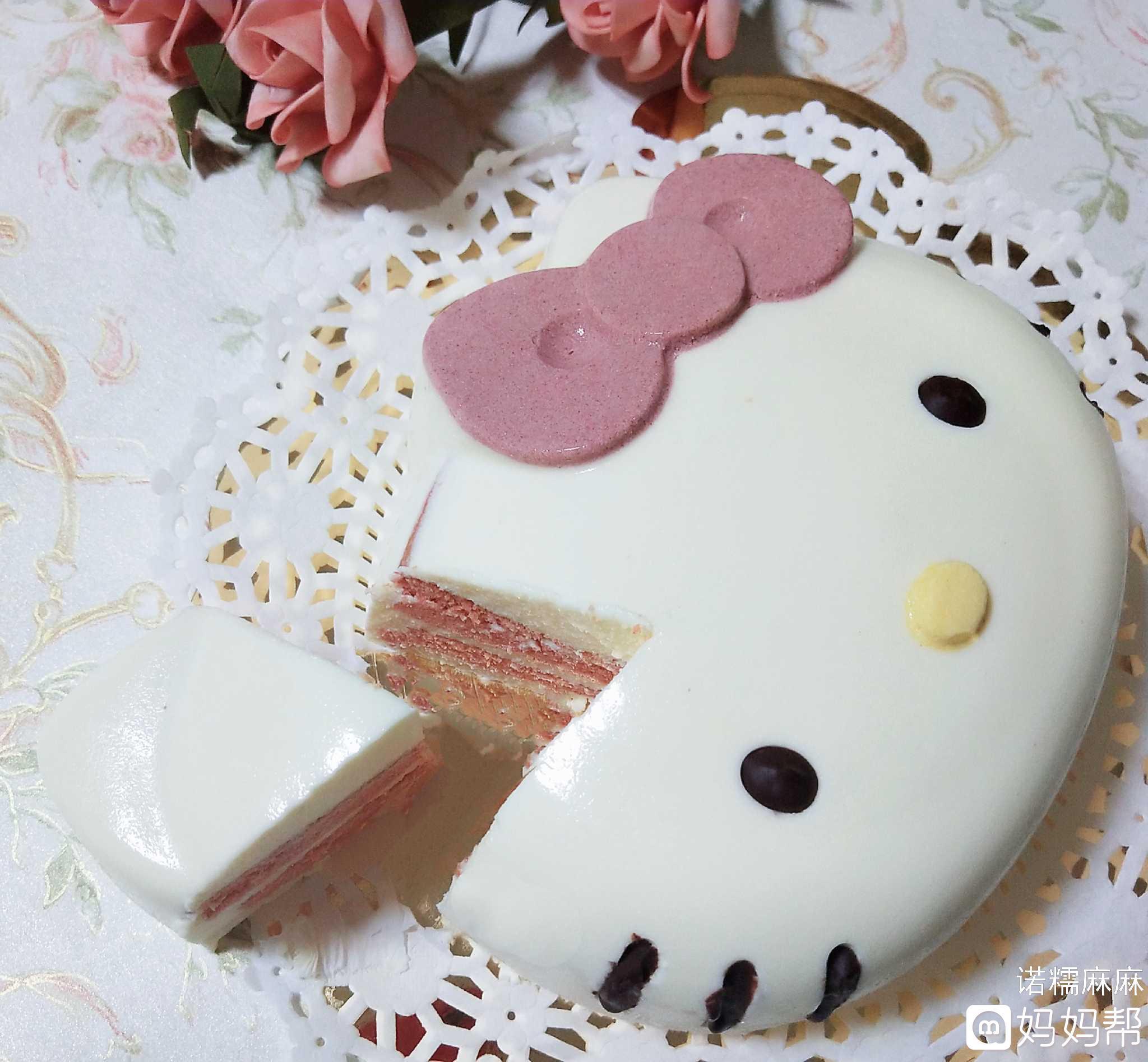 诺糯麻麻美食烘培-kitty猫慕斯蛋糕