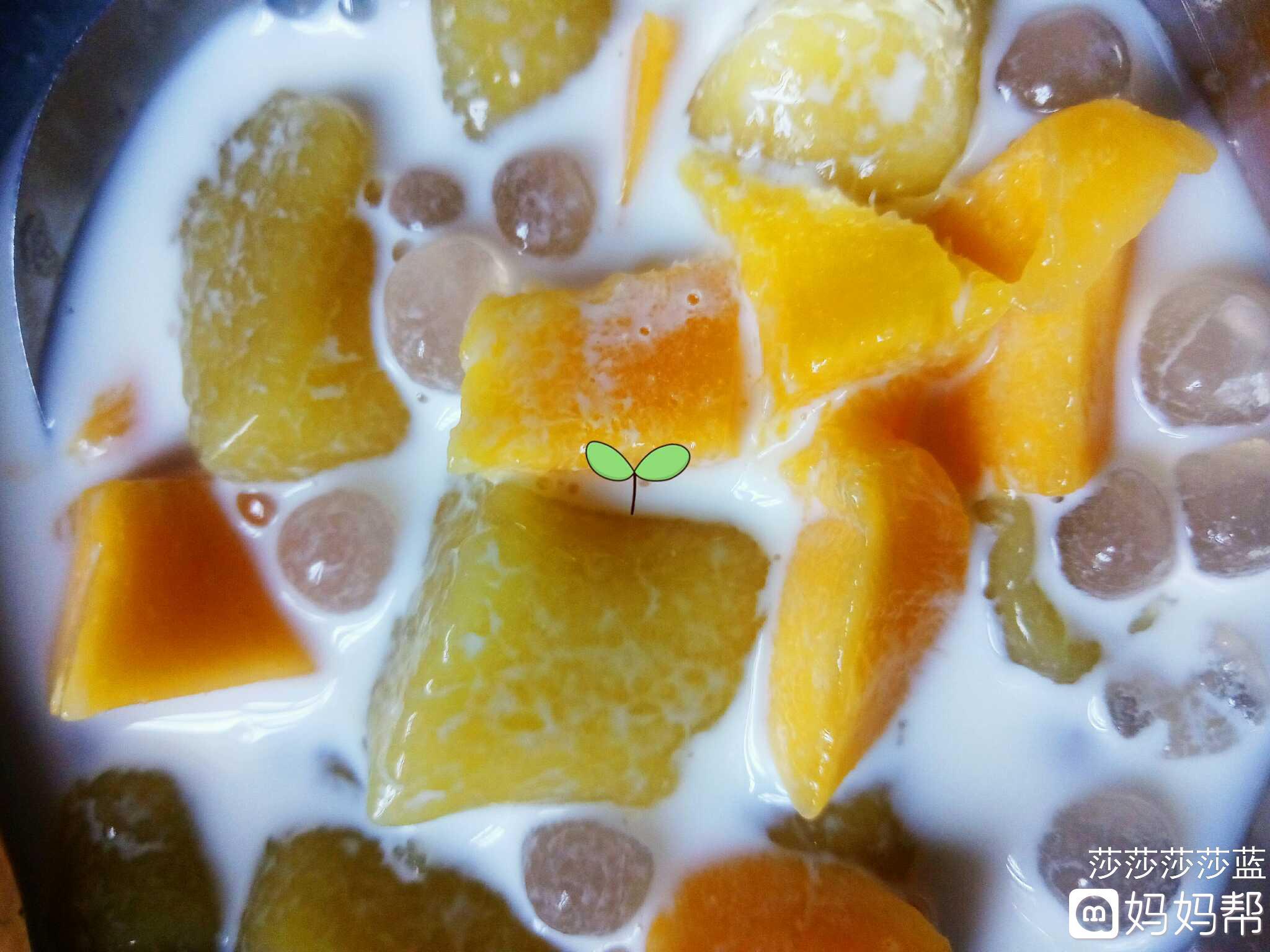 美食日记# 手工芋圆 芒果西米露天太