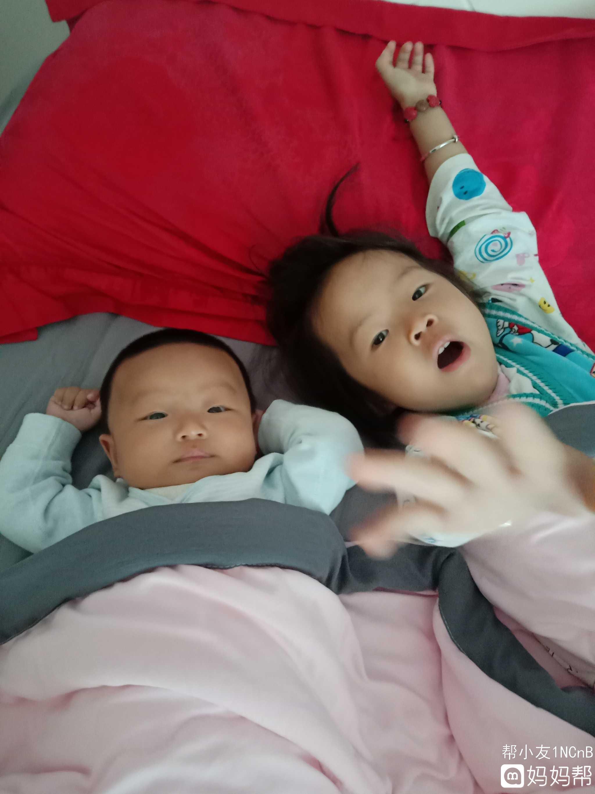 我家的两个宝贝可爱不