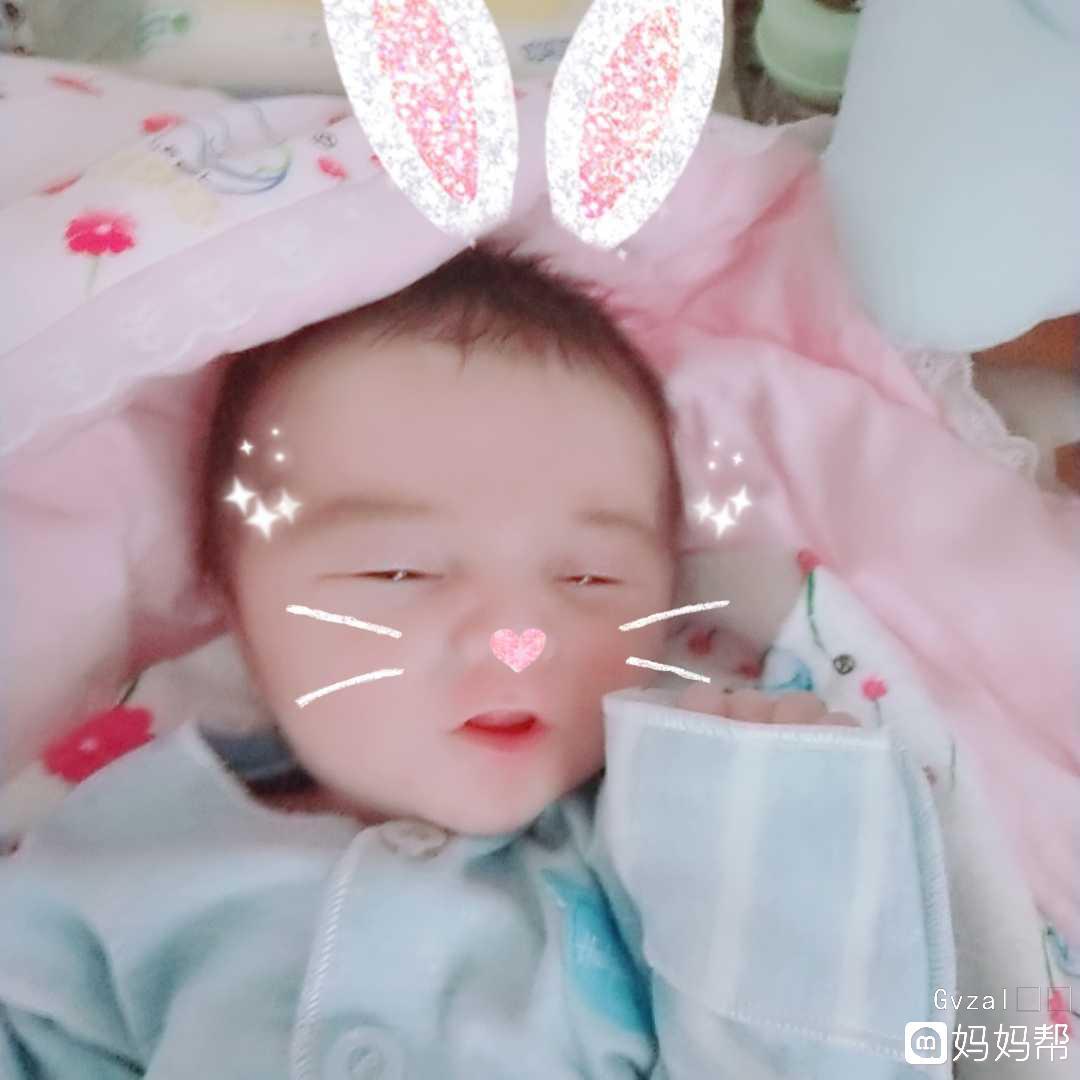 爱你宝宝宝宝真乖肚子饱了就睡觉