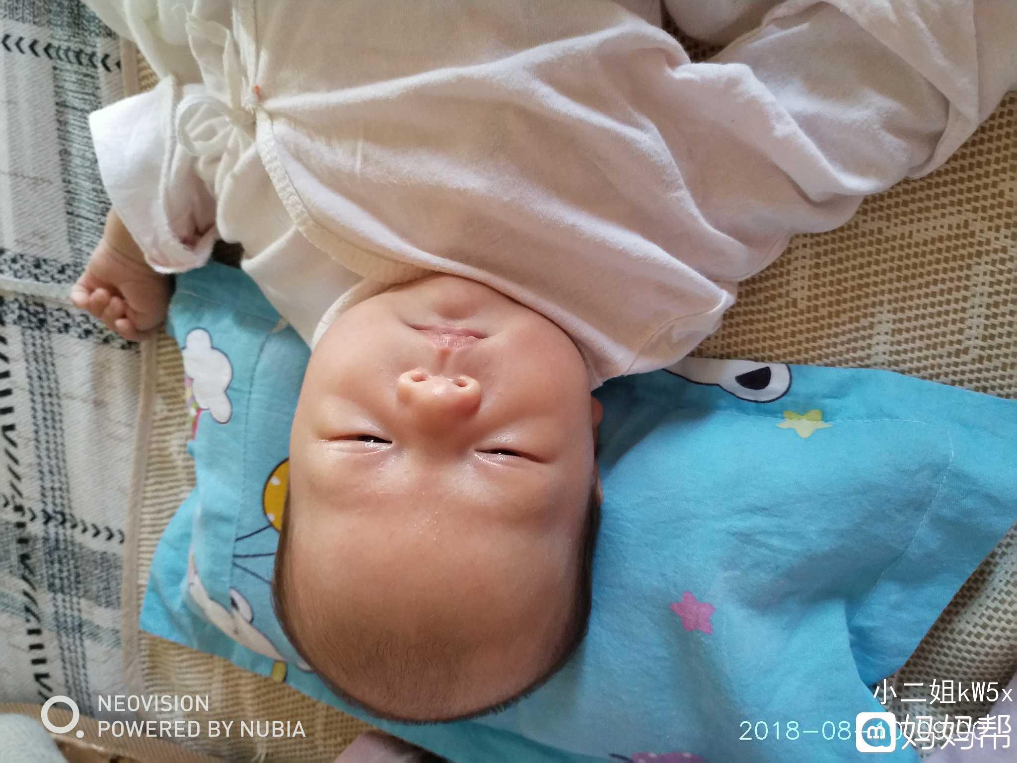 头型24天了从出生下来宝宝女生就有点短发发型美宝宝的点图片