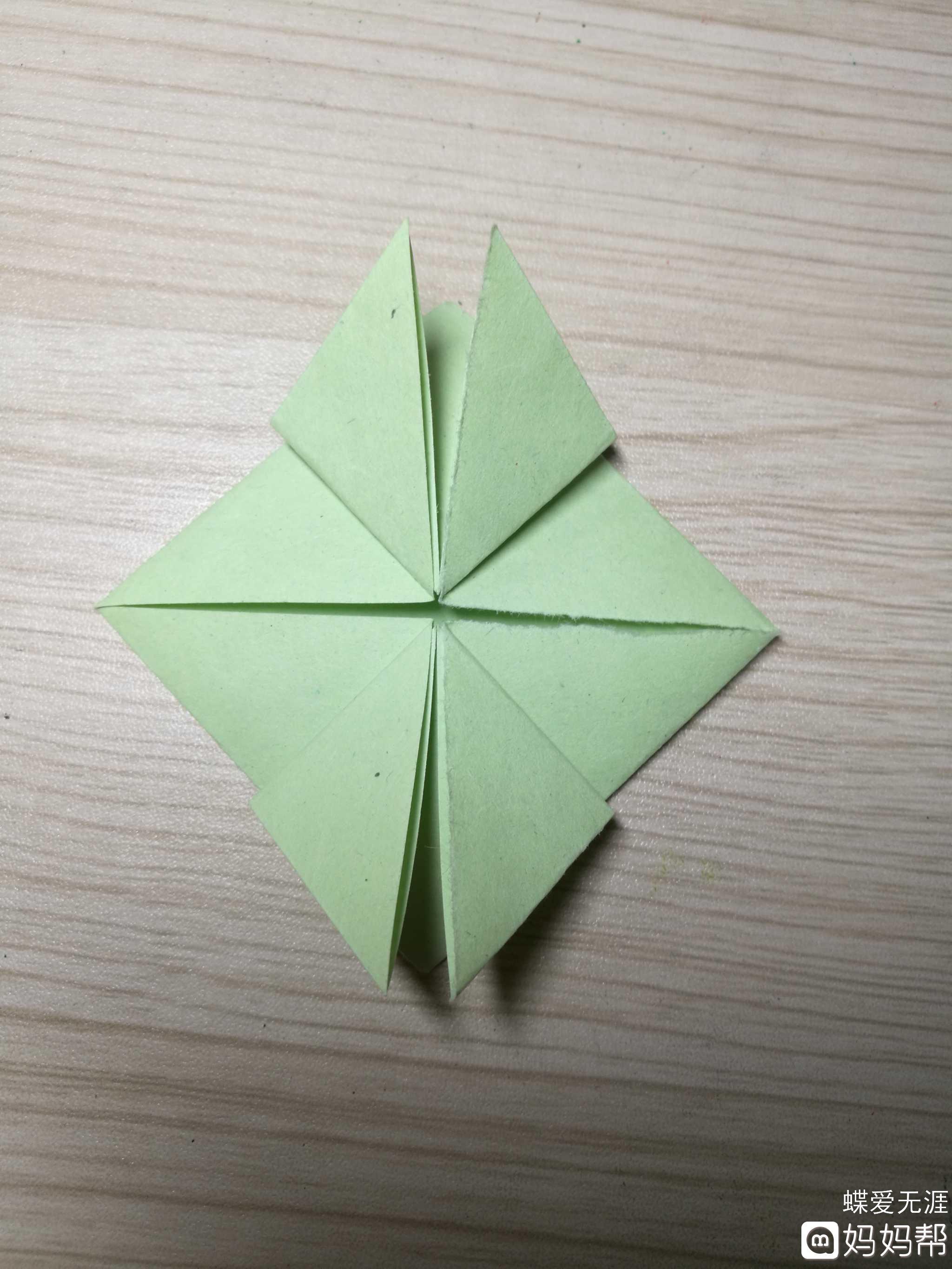手工折纸#会跳跃的青蛙 1,会跳的小青