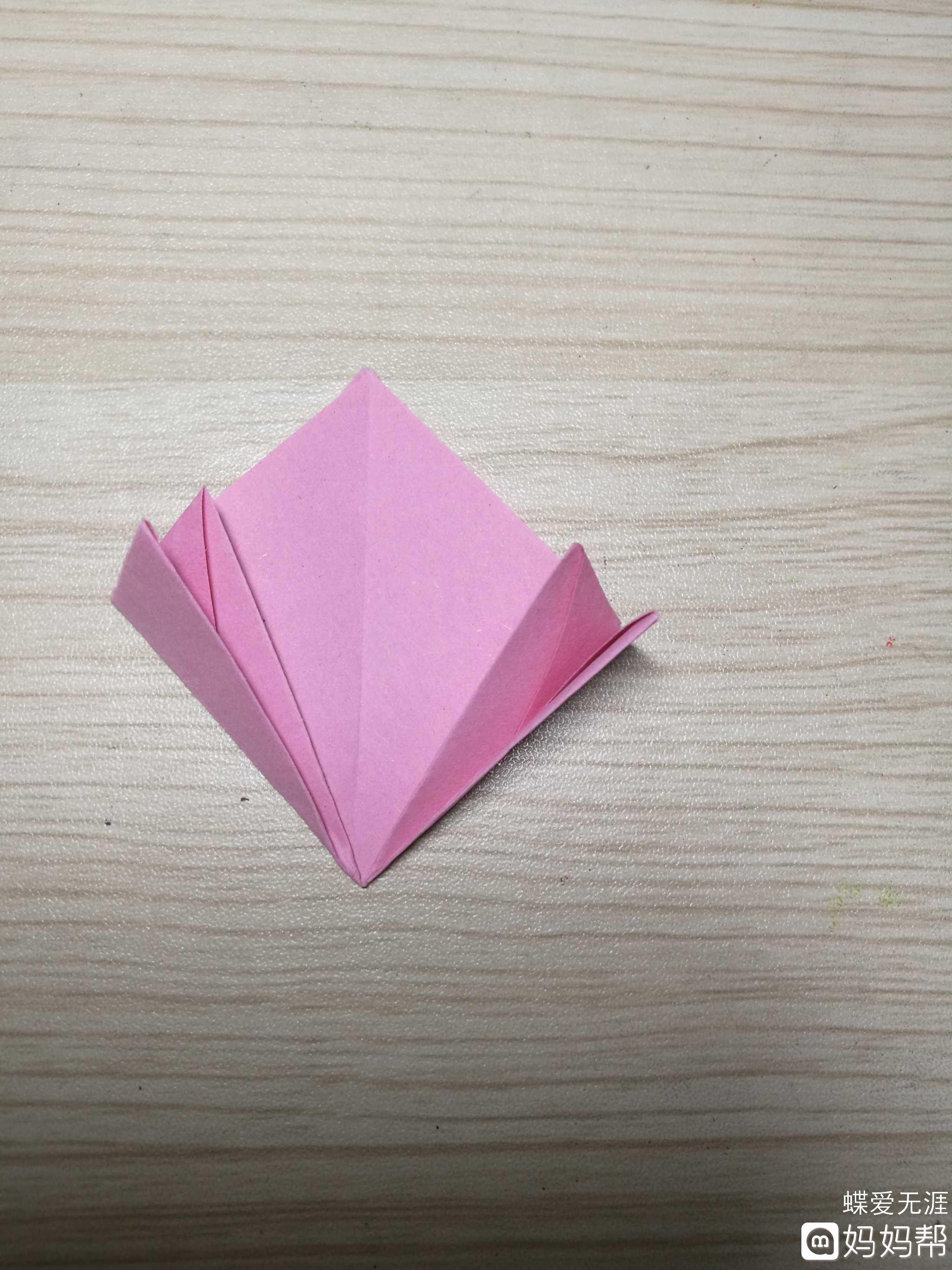手工日记#折纸樱花 制作步骤: 1,取