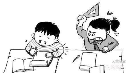 卡通同桌简笔画