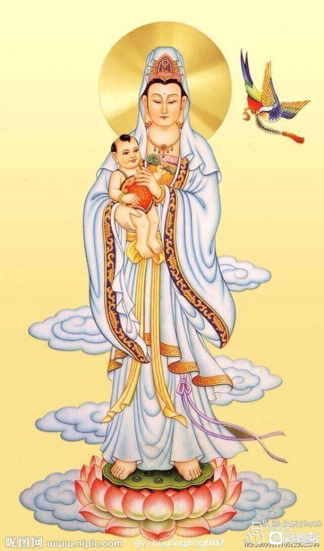 求菩萨保佑我儿女双全阿弥陀佛