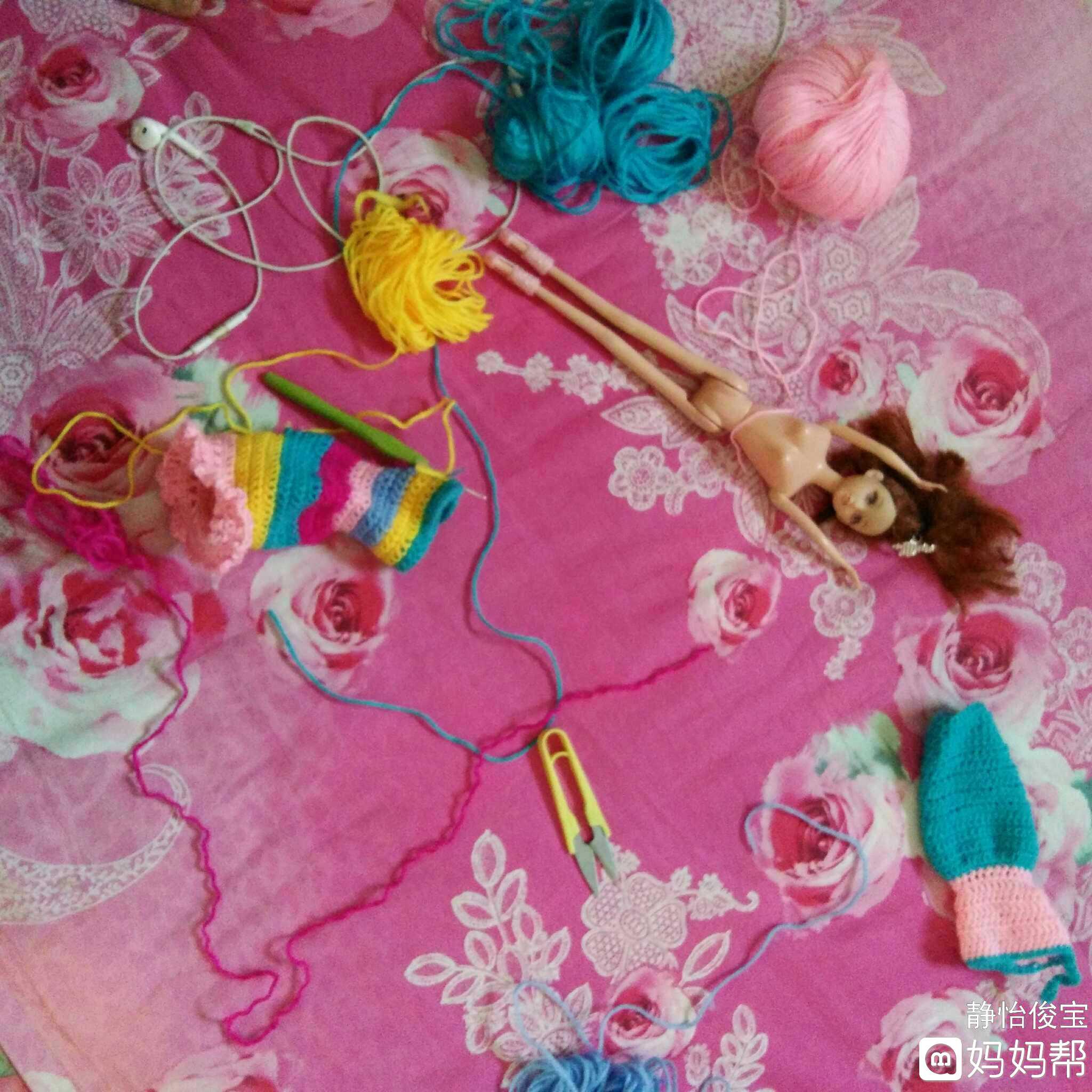钩针睡眠娃娃编织图解