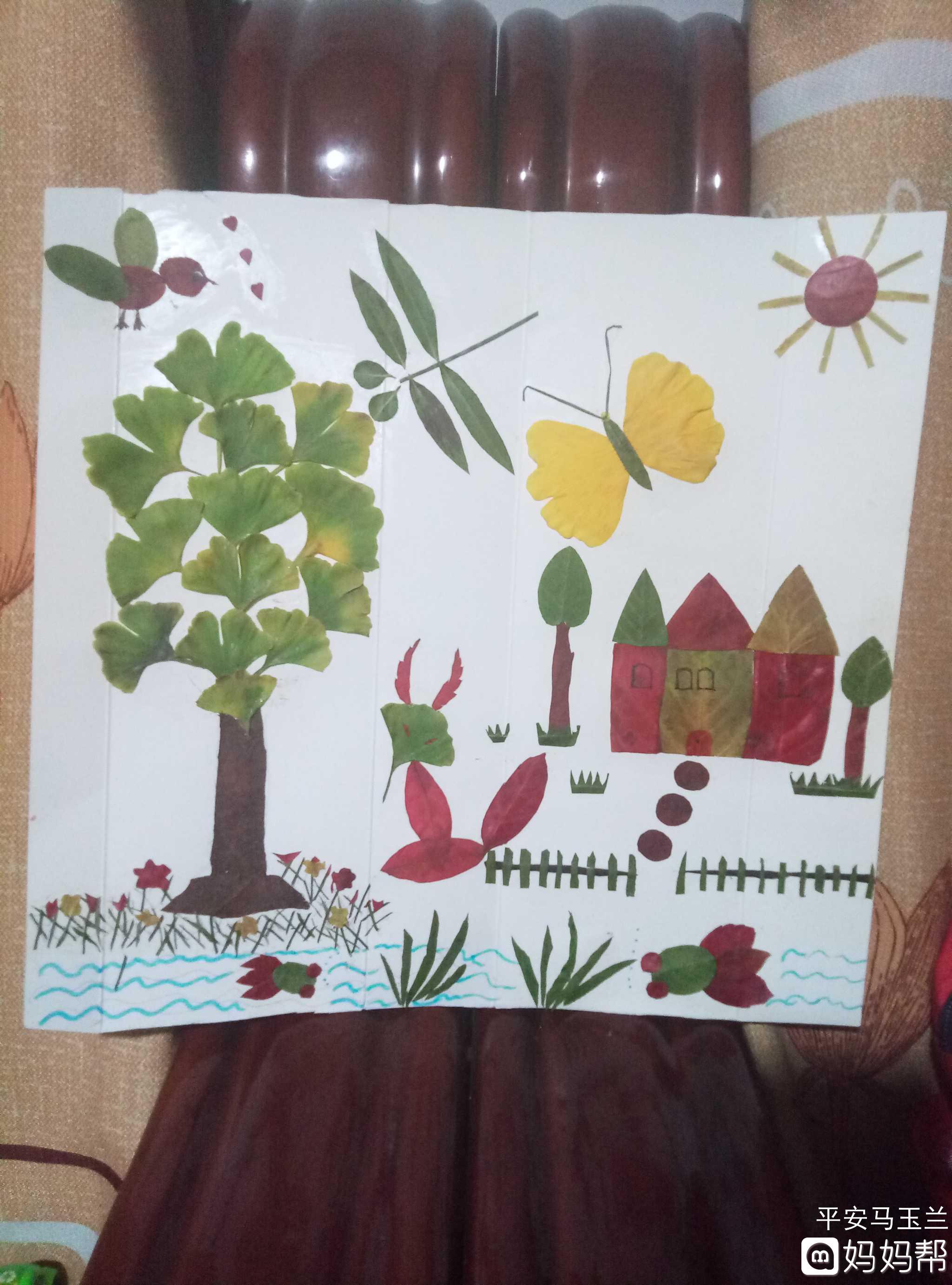 【树叶手工】+美丽的风景cdr中国画绘制图片