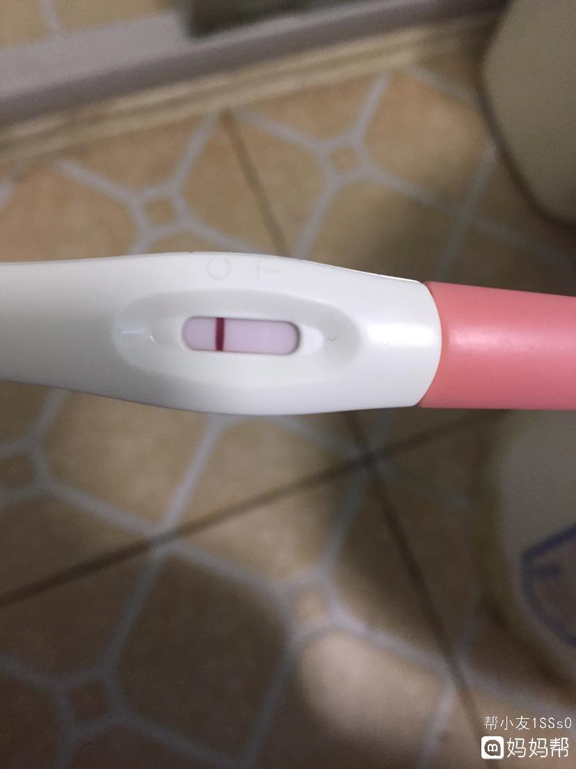 大家帮我看看 急 验孕棒一条白杠是什么意思