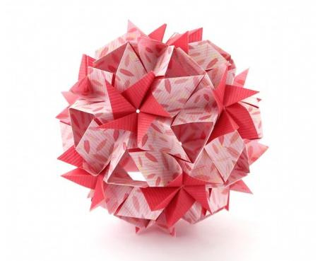 折纸花球制作教程