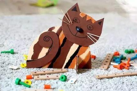 【亲子手工】n款创意亲子手工制作小猫咪,美爆了!