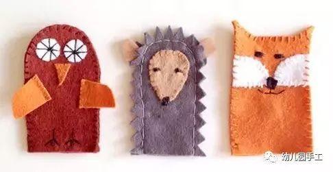 【益智手工】幼儿园创意手工制作萌萌的手指玩偶