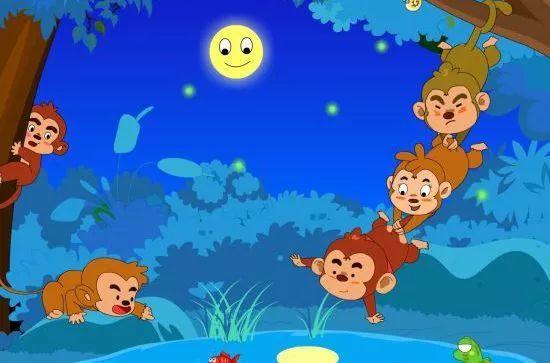 宝贝睡前启智故事:猴子捞月