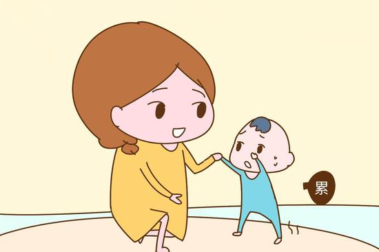 幼儿自己走路简笔画