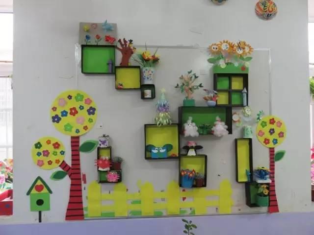 自然角的设置给幼儿提供了互动参与的空间.