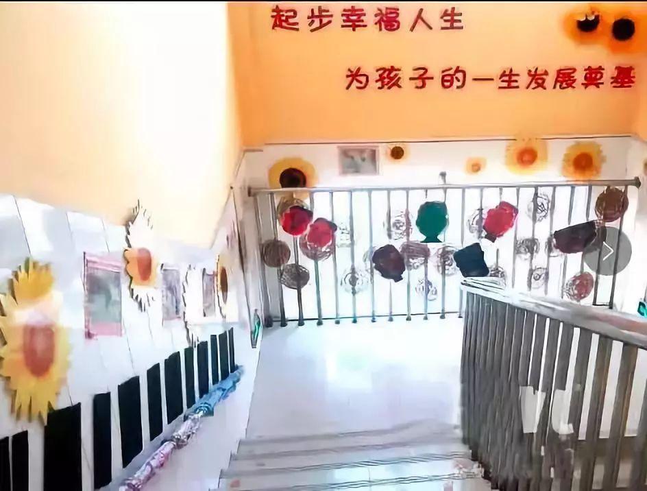 幼儿园走廊,楼梯手工环创布置,太棒了!