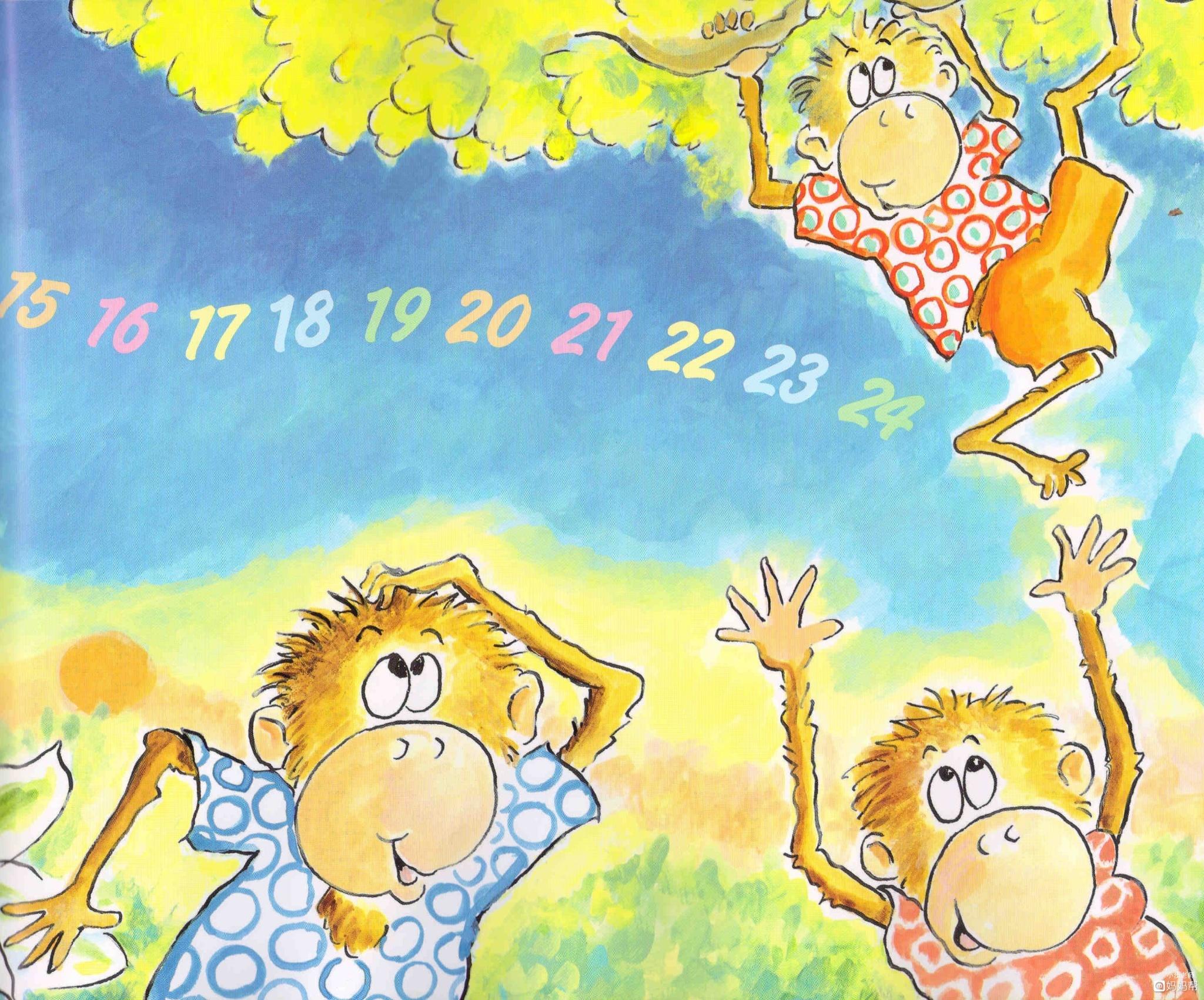 经典英语绘本故事&英文歌曲《five little monkeys play hide and see