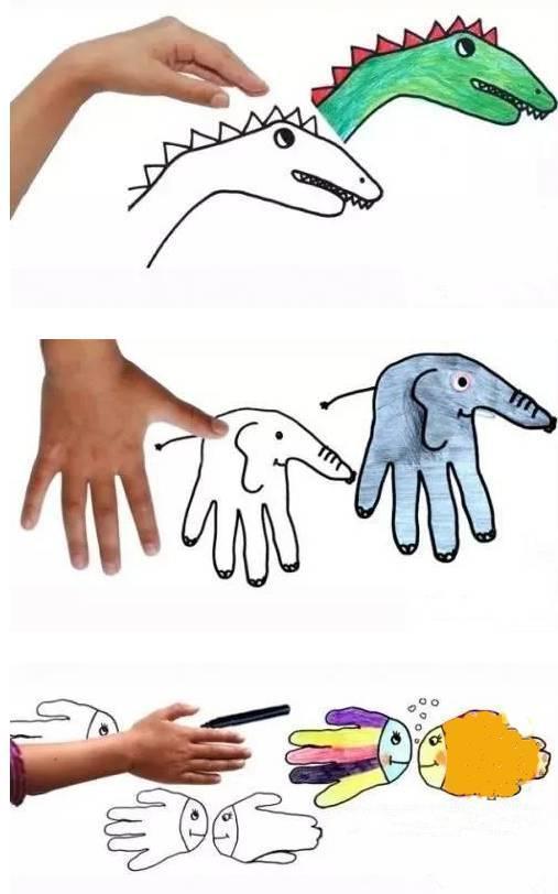 幼儿园手指画大全,可以跟孩子一起动手画一画喔