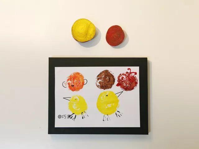 【拓印手工】你见过这样的幼儿园拓印画吗?