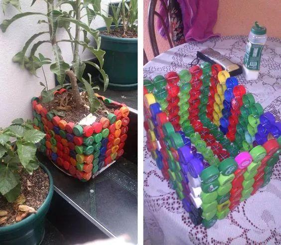 塑料瓶diy花盆,笔筒,还有油桶,洗发液瓶,酸奶杯等,原来改一改,竟