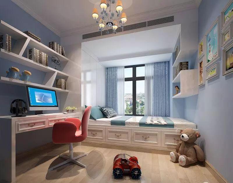 设计,榻榻米床 书桌柜一体,小房间也可以兼并睡觉,学习,玩耍,收纳的功