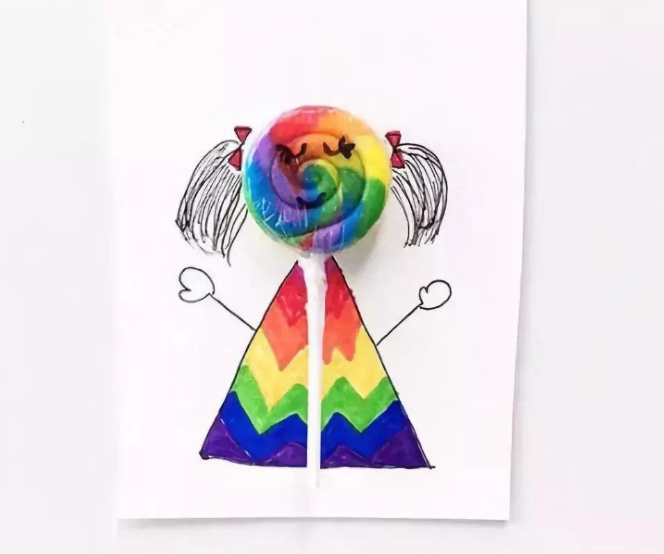 儿童创意手工头发图片