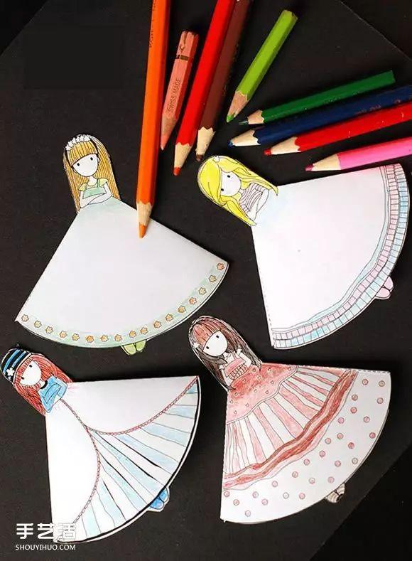 *猜你喜欢*   会动的纸片小人手工制作,扎着辫子的小女孩形象,看表情