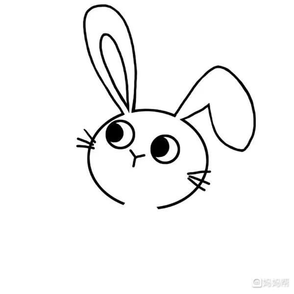 可爱小兔子简笔画彩色教程分享!大家喜欢吗?一起来画简笔画吧